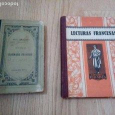 Libros antiguos: 2 LIBROS ANTIGUOS NOUVELLE GRAMMAIRE FRANÇAISE 1897+ LECTURAS FRANCESAS LUIS VIVES 1947. Lote 97123271