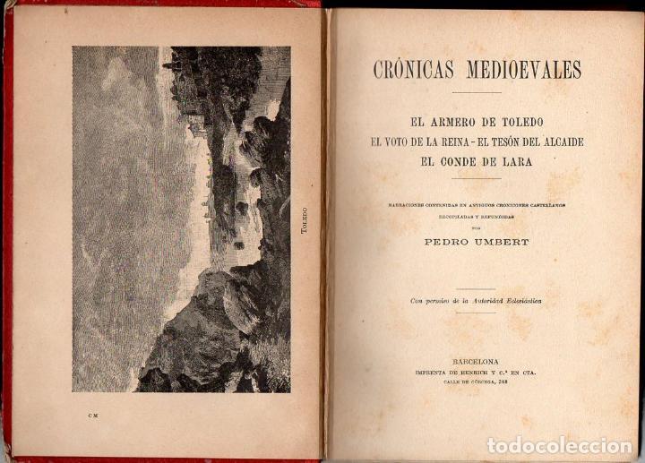 Libros antiguos: UMBERT: CRÓNICAS MEDIOEVALES (HENRICH, 1913) - Foto 2 - 97141119