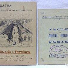 Libros antiguos: 2 ANTIGUOS LIBROS DE TAULES DE REDUCCIONS I EQUIVALENCIES DE FUSTES. VER DESCRIPCIÓN.. Lote 97289283