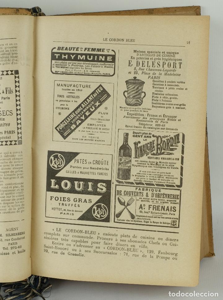 Libros antiguos: Le Cordon Bleu años 1908, 1909 y 1910 - Foto 7 - 97307199