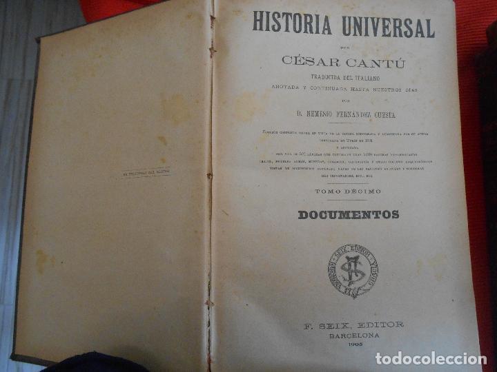 Libros antiguos: HISTORIA UNIVERSAL -CESAR CANTU - Foto 3 - 97352735