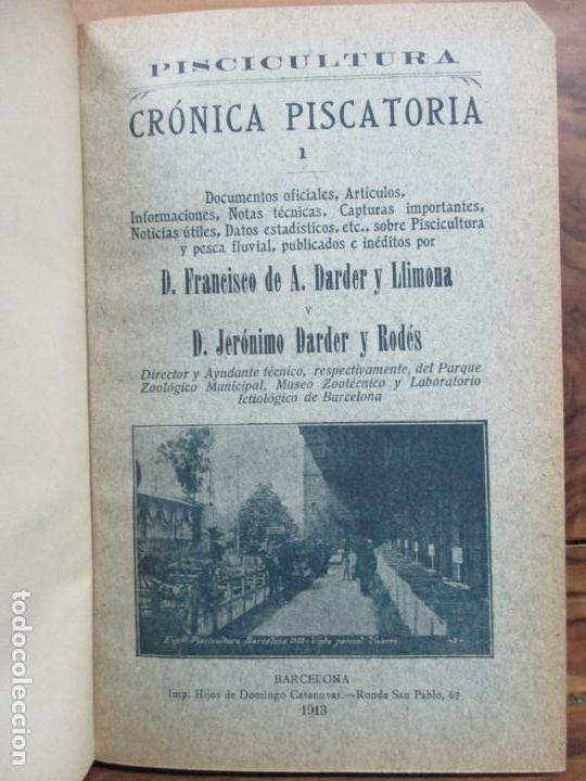 Libros antiguos: PISCICULTURA. FRANCISCO DE A. DARDER Y JERÓNIMO DARDER. 1913. - Foto 2 - 97386023