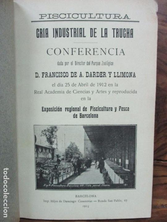 Libros antiguos: PISCICULTURA. FRANCISCO DE A. DARDER Y JERÓNIMO DARDER. 1913. - Foto 4 - 97386023