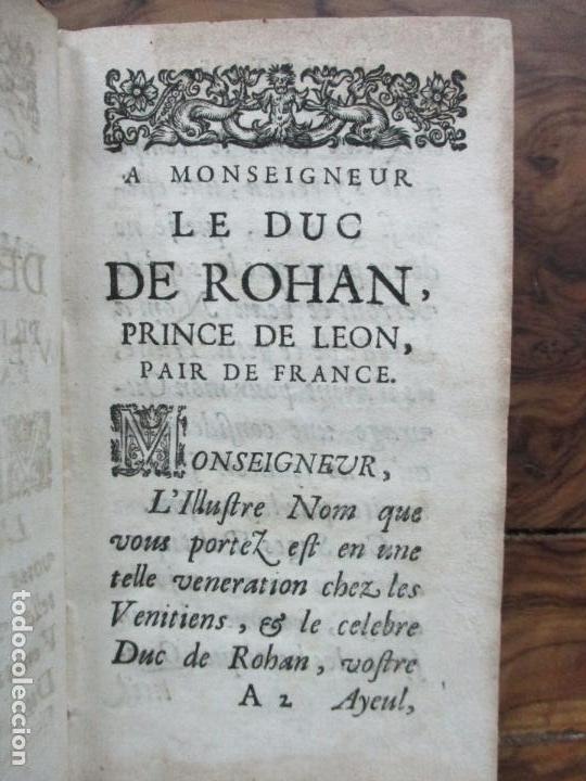 Libros antiguos: LA POLITIQUE CIVILE ET MILITAIRE DES VENITIENS. 1670. - Foto 4 - 97391671