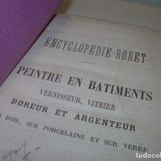 Libros antiguos: LIBRO TAPAS PIEL...AÑO..1870..PEINTRE EN BATIMENTS DOREUR Y ARGENTEUR.. Lote 97404387