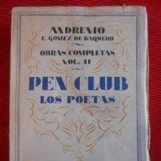 Libros antiguos: OBRAS COMPLETAS VOL.II-ANDRENIO E.GOMEZ DE BAQUERO. Lote 97560319