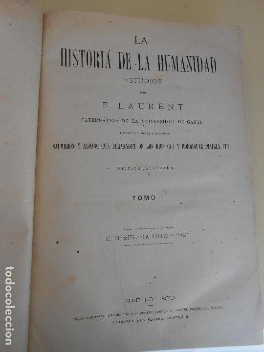 Libros antiguos: ESTUDIOS SOBRE LA HISTORIA DE LA HUMANIDAD TOMO I - Foto 2 - 97568319