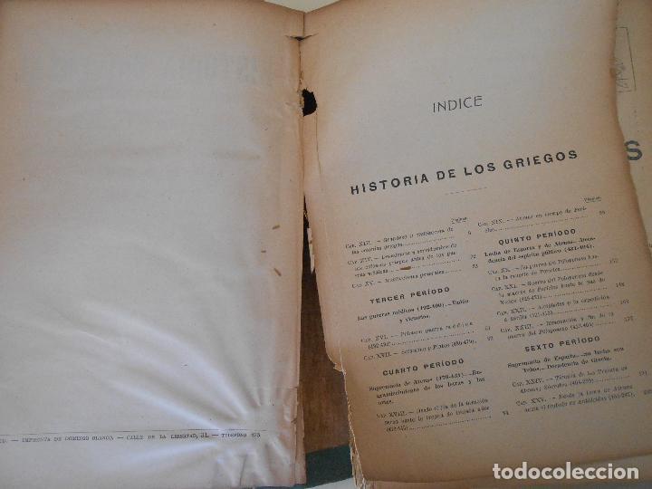 Libros antiguos: HISTORIA DE LOS GRIEGOS - Foto 2 - 97569127