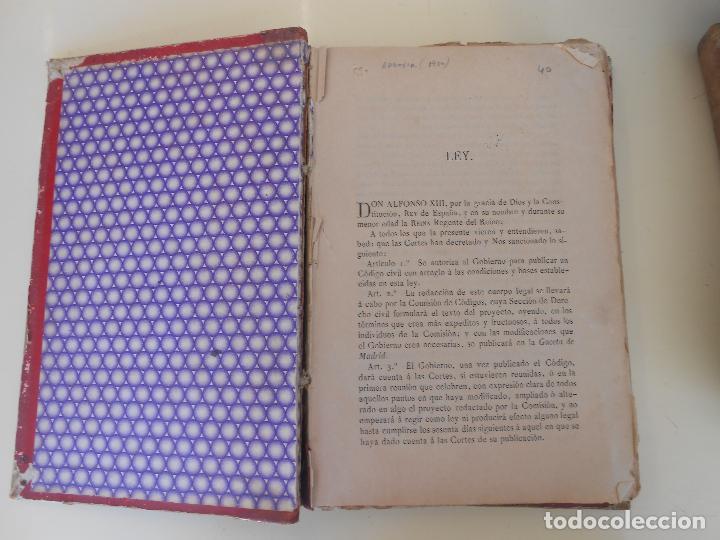 Libros antiguos: CODIGO CIVIL - Foto 2 - 97656363
