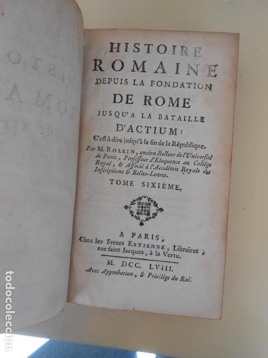Libros antiguos: HISTOIRE ROMAINE -TOME SICIEME - Foto 2 - 97656695