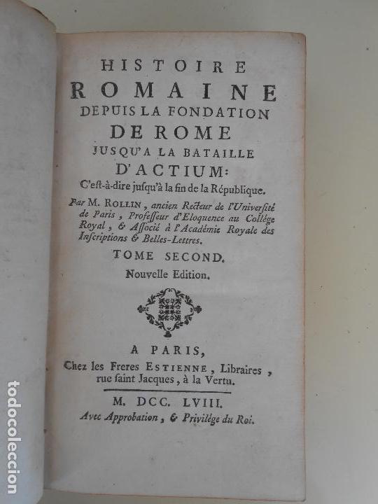 Libros antiguos: HISTOIRE ROMAINE -TOME SECOND - Foto 2 - 97657423