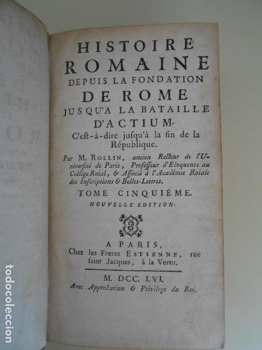 Libros antiguos: HISTOIRE ROMAINE-TOME CINQUIEME - Foto 2 - 97657747