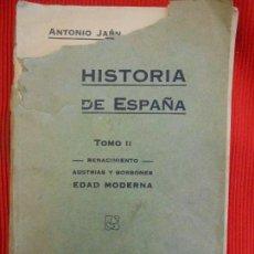 Libros antiguos: HISTORIA DE ESPAÑA TOMO II. Lote 97673475