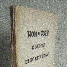 Libros antiguos: VARIOS AUTORES.- HOMMAGE A BAYONNE. Lote 94952499