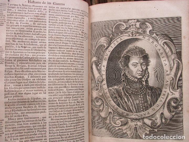 Libros antiguos: LAS GUERRAS DE FLANDES DESDE LA MUERTE DEL EMPERADOR CARLOS V..BENTIVOLLO, cardenal. 1687 - Foto 6 - 97709455
