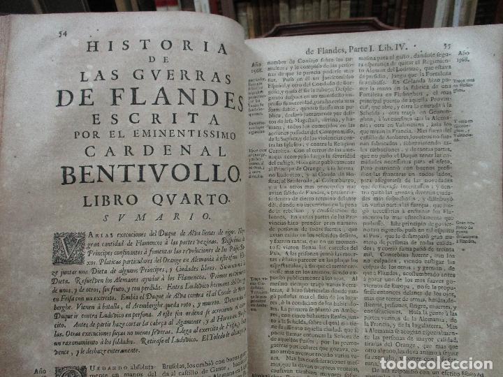 Libros antiguos: LAS GUERRAS DE FLANDES DESDE LA MUERTE DEL EMPERADOR CARLOS V..BENTIVOLLO, cardenal. 1687 - Foto 7 - 97709455