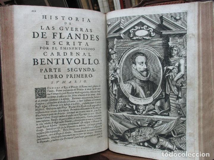 Libros antiguos: LAS GUERRAS DE FLANDES DESDE LA MUERTE DEL EMPERADOR CARLOS V..BENTIVOLLO, cardenal. 1687 - Foto 9 - 97709455