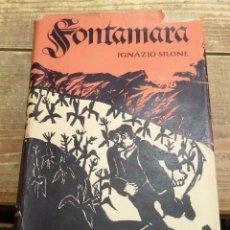Libros antiguos: FONTAMARA,IGNAZIO SILONE, 1933, PRIMERA EDICION,IMPRESA EN ZURICH, 293 PAGINAS, EN ALEMAN. Lote 220718178