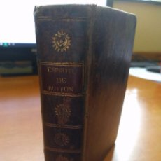 Libros antiguos: ESPÍRITU DEL CONDE DE BUFFON. 1798. Lote 97795119
