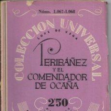 Libros antiguos: == R34 - PERIBAÑEZ Y EL COMENDADOR DE OCAÑA - LOPE DE VEGA - ESPASA-CALPE. Lote 97805691