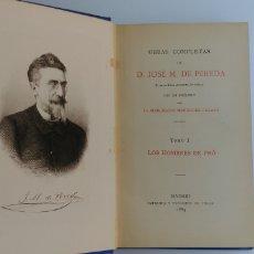 Libros antiguos: OBRAS COMPLETAS DE JOSÉ MARIA PEREDA TOMO 1 HOMBRES DE PRO 1884. Lote 97830254