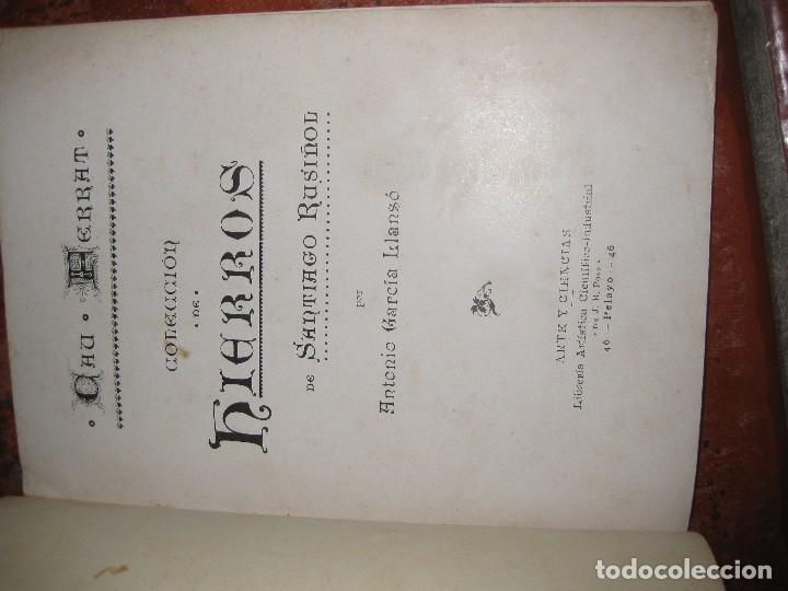 Libros antiguos: libro el cau ferrat . coleccion de hierros de santiago rusiñol . A garcia llanso sitges - Foto 2 - 97849035