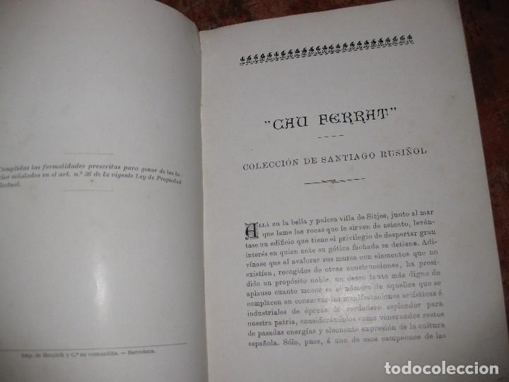 Libros antiguos: libro el cau ferrat . coleccion de hierros de santiago rusiñol . A garcia llanso sitges - Foto 6 - 97849035