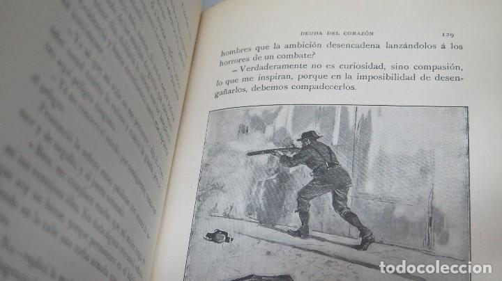 Libros antiguos: 1909.- DEUDA DEL CORAZÓN. EL ÁNGEL DE LA GUARDA. JOSE SELGAS - Foto 3 - 97978415