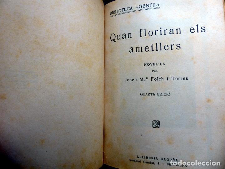 Libros antiguos: 38 Novelas de Josep Mª Folch i Torres en 6 tomos - Foto 5 - 98063863
