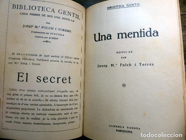 Libros antiguos: 38 Novelas de Josep Mª Folch i Torres en 6 tomos - Foto 7 - 98063863
