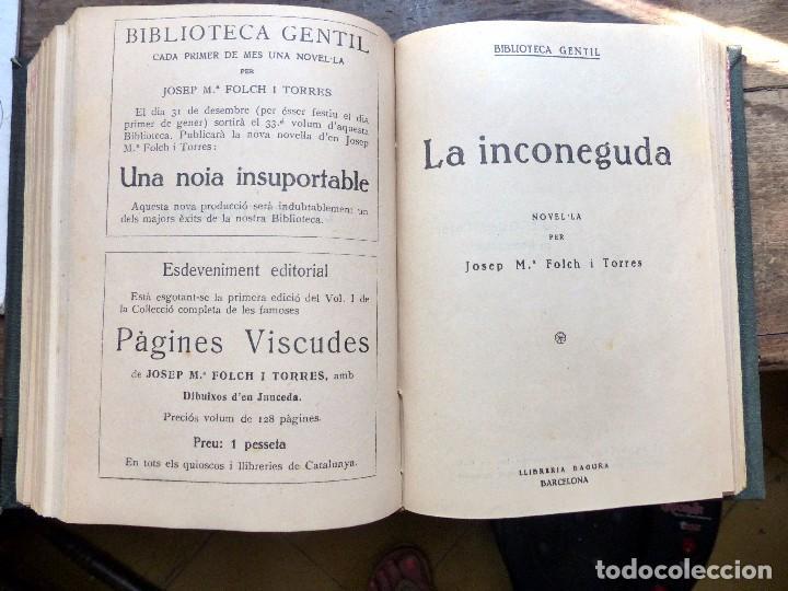 Libros antiguos: 38 Novelas de Josep Mª Folch i Torres en 6 tomos - Foto 16 - 98063863