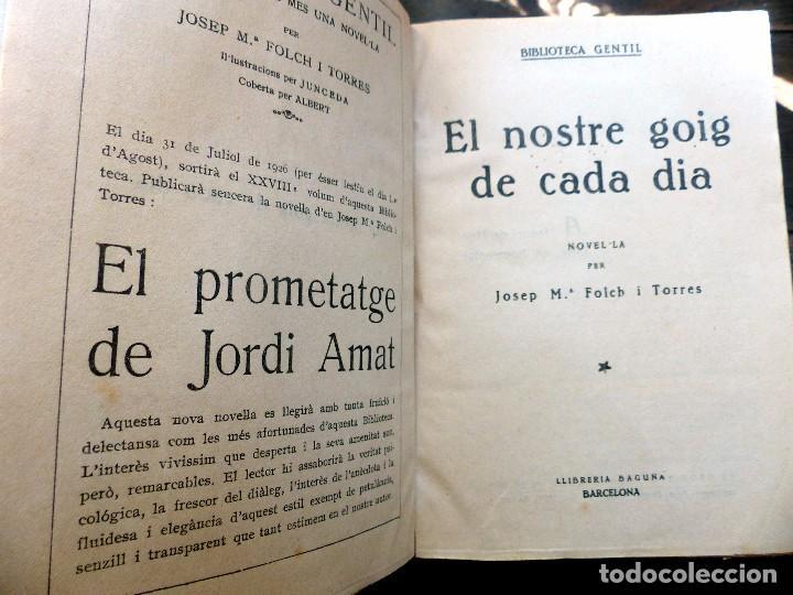 Libros antiguos: 38 Novelas de Josep Mª Folch i Torres en 6 tomos - Foto 19 - 98063863