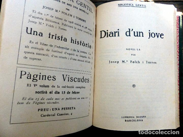 Libros antiguos: 38 Novelas de Josep Mª Folch i Torres en 6 tomos - Foto 33 - 98063863
