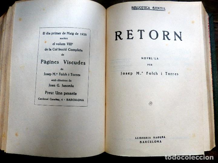 Libros antiguos: 38 Novelas de Josep Mª Folch i Torres en 6 tomos - Foto 39 - 98063863