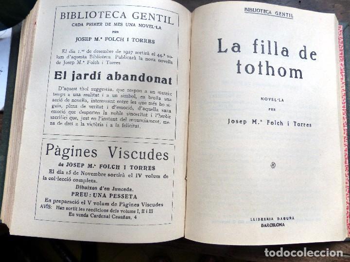 Libros antiguos: 38 Novelas de Josep Mª Folch i Torres en 6 tomos - Foto 41 - 98063863
