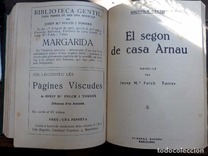 Libros antiguos: 38 Novelas de Josep Mª Folch i Torres en 6 tomos - Foto 48 - 98063863