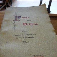 Libros antiguos: FESTA DE LA BELLESA PALAFRUGELL 1905. Lote 98075587