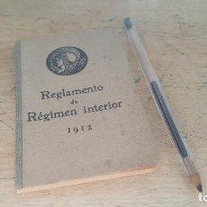 Libros antiguos: CIRCULO DE BELLAS ARTES, REGLAMENTO DE REGIMEN INTERIOR, MADRID 1912. Lote 98108479