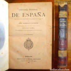 Libros antiguos: LAFUENTE, MODESTO. HISTORIA GENERAL DE ESPAÑA : DESDE LOS TIEMPOS PRIMITIVOS... TOMO 1. Lote 98117151