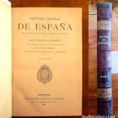 Libros antiguos: LAFUENTE, MODESTO. HISTORIA GENERAL DE ESPAÑA : DESDE LOS TIEMPOS PRIMITIVOS... TOMO 5. Lote 98117303