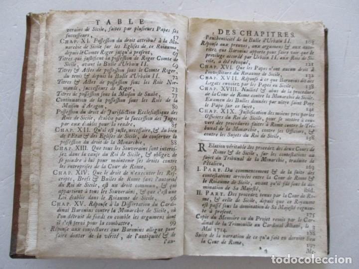 Libros antiguos: Defense de la Monarchie de Sicile contre les entreprises de La Cour de Rome... RM83159. - Foto 4 - 98138007