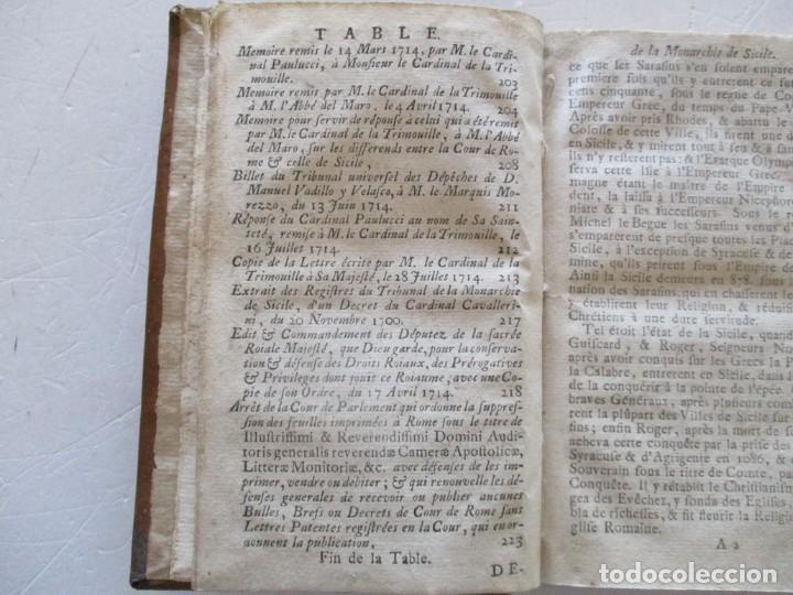 Libros antiguos: Defense de la Monarchie de Sicile contre les entreprises de La Cour de Rome... RM83159. - Foto 5 - 98138007