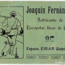 Libros antiguos: JOAQUÍN FERNÁNDEZ. FABRICANTE DE ESCOPETAS FINAS DE CAZA. EIBAR, GUIPÚZCOA. CATÁLOGO, HACIA 1925. Lote 98145283
