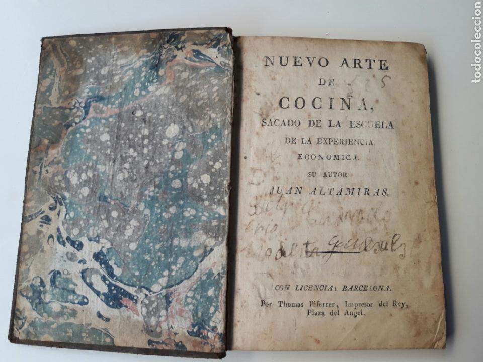 NUEVO ARTE DE COCINA SACADO DE LA ESCUELA - JUAN ALTAMIRAS - IMPRENTA THOMAS PIFERRER - BARCELONA (Libros Antiguos, Raros y Curiosos - Cocina y Gastronomía)