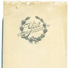 Libros antiguos: YOST TYPEWRITER. CATÁLOGO MÁQUINAS DE ESCRIBIR YOST. AÑO 1920. 20 PÁGINAS CON ILUSTRACIONES. Lote 98211299