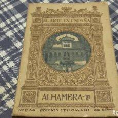 Libros antiguos: EL ARTE EN ESPAÑA ALHAMBRA. Lote 98507323