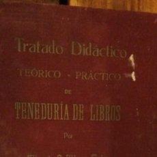 Libros antiguos: TENEDURIA DE LIBROS 1927 MIGUEL BOFILL Y FRIAS. Lote 98510251