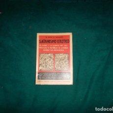 Libros antiguos: DR JUSTO Mº ESCALANTE, SATANISMO EROTICO. CASA AMETLLER BARCELONA, 1932. Lote 98510827