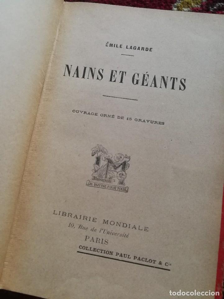 Libros antiguos: NAINS ET GEANTS- (ENANOS Y GIGANTES) -EMILE LAGARDE, ILUSTRADO 15 GRABADOS.1860-1900. RARO!!!. - Foto 2 - 98511543