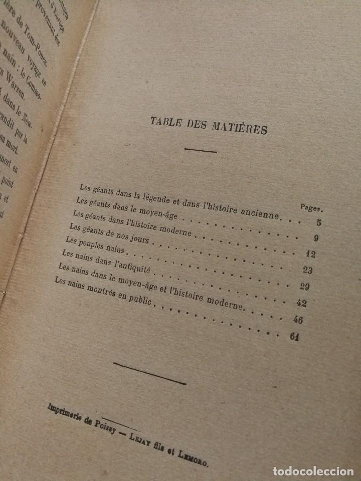 Libros antiguos: NAINS ET GEANTS- (ENANOS Y GIGANTES) -EMILE LAGARDE, ILUSTRADO 15 GRABADOS.1860-1900. RARO!!!. - Foto 7 - 98511543